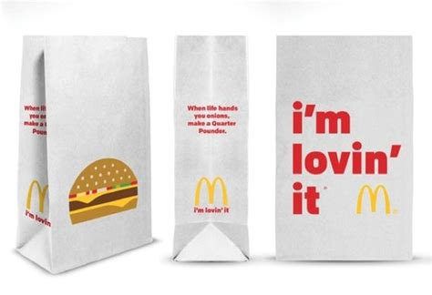 Minimalist Fast Food Packaging  Take Out Bag
