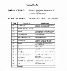 Basketball workout plan pdf eoua blog for Football practice plan template
