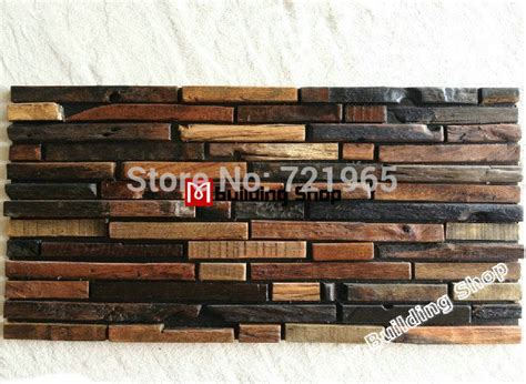 rustic kitchen wall tiles wood mosaic tile rustic wood wall tiles nwmt009 5009