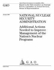 Nuclear Forensics: Comprehensive Interagency Plan Needed ...