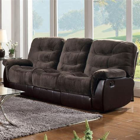 Coaster 601081 Brown Fabric Reclining Sofa Steal A Sofa