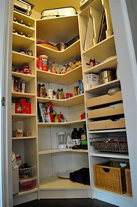 organization corner pantry   basement  ideas
