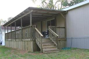 Deck Porch Mobile Home Woman Build Porch Roof Designs
