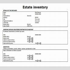 Estate Inventory Template  12+ Free Word, Excel, Pdf Documents Download  Free & Premium Templates