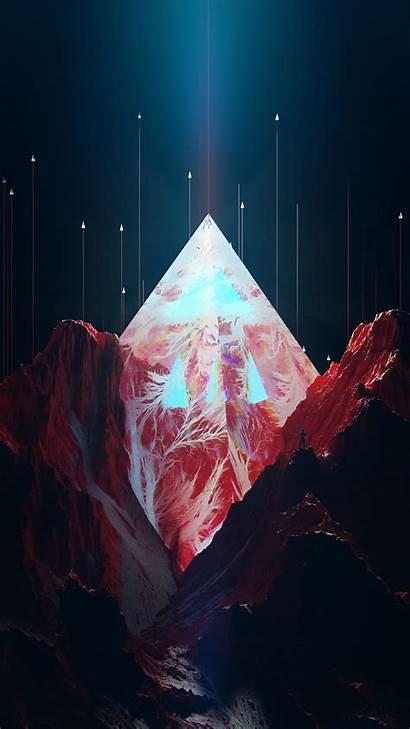 Geometric Mountain Peak Iphone Wallpapers Nature Resolutions