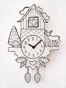 Uhrwerk Zum Basteln : uhren kuckucksuhr aus papier ein designerst ck von hellopetie bei dawanda basteln ~ Eleganceandgraceweddings.com Haus und Dekorationen