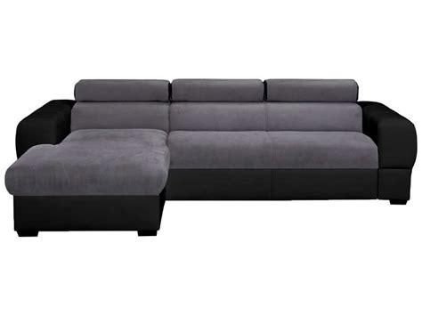 canape angle conforama canapé d 39 angle convertible 5 places tresor coloris gris noir vente de canapé d 39 angle conforama