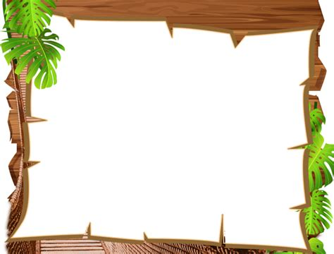 Animal Frame Wallpaper - jungle border clipart ourclipart