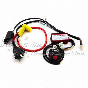 Racing Cdi Ignition Coil Kill Switch Wiring Loom Harness
