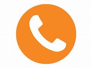 The gallery for --> Orange Telephone Icon