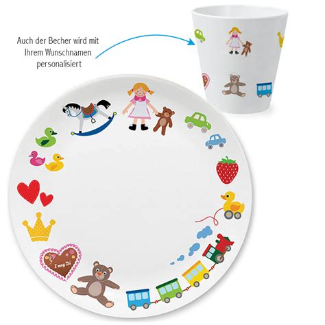 zum 1 geburtstag mädchen spielzeug m 228 dchen kindergeschirr set als geschenk zum 1