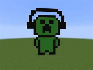 Headphone Creeper Pixelart Minecraft by BubblezGR on ...