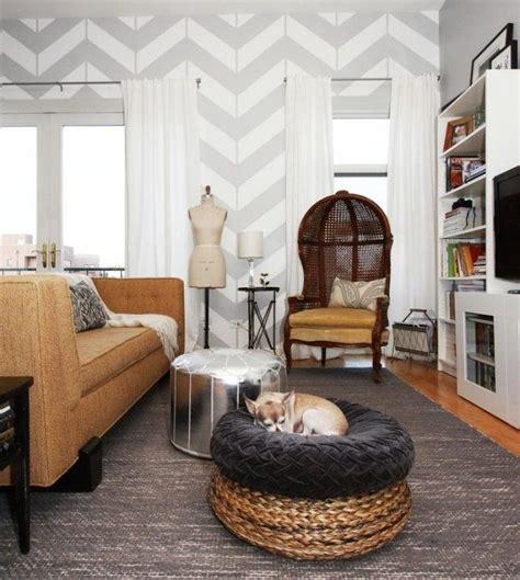 Wandgestaltung In Grau by Wohnzimmer Wandgestaltung Grau Wei 223 Zick Zack Muster