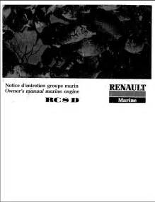Renault Diesel Engine by Renault Rc8d Diesel Engine Manual Cover Marine Diesel Basics