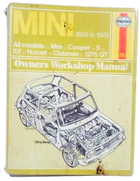 auto repair manual online 2011 mini clubman electronic toll collection haynes manual mini cooper s 1959 to 1978 elf hornet clubman 1275gt ebay