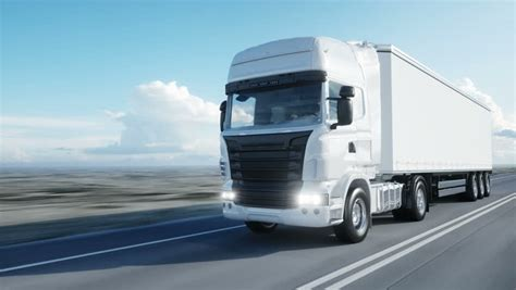 White Truck Wallpaper by White Truck Semi Trailer On Stock Footage 100
