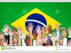 Group Of MultiEthnic Arms In Brazil Stock Photo Image