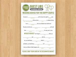 diy printable wedding mad libs guestbook colors customizable With guest libs wedding edition template