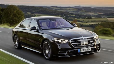 This redesigned flagship sedan again pushes boundaries of comfort, convenience, and innovation. 2021 Mercedes-Benz S-Class Plug-in-Hybrid (Color: Onyx Black) - Front Three-Quarter   HD ...