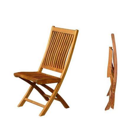 chaise pliante de jardin galbee bois teck massif cm