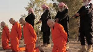 Grey-haired ISIS fanatics execute prisoners days after ...