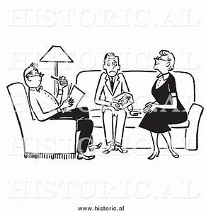 Clipart of Adults Sitting with Nervous Teenager in the ...
