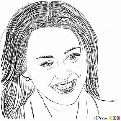 Draw Cyrus Miley Celebrities Undercover Step Drawdoo