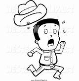 Away Running Clipart Screaming Cowboy Western Clip Run Drawing Hat Scared While Cliparts Losing Vector Getdrawings Library Clipartmag Clipground sketch template