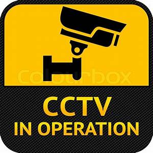 Cctv Symbol  Label Security Camera