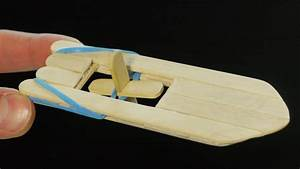 How to make a popsicle stick and rubber band paddle boat