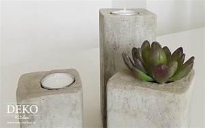 Deko Aus Beton Selber Machen : diy stylische deko kerzenleuchter aus beton deko kitchen ~ Markanthonyermac.com Haus und Dekorationen