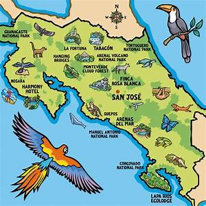 Costa Rica map aw | Jane Smith's Blog