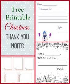 Free Printable Christmas Thank You Notes