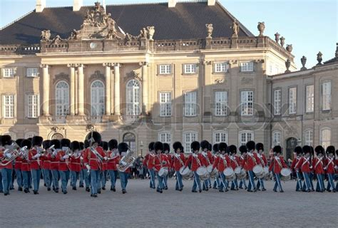 Royal Guard In Front Of Amalienborg  Stock Photo Colourbox
