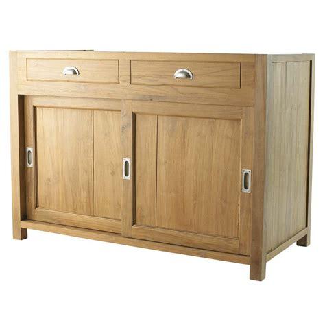 meubles cuisine bas meuble bas de cuisine en teck massif l 120 cm amsterdam