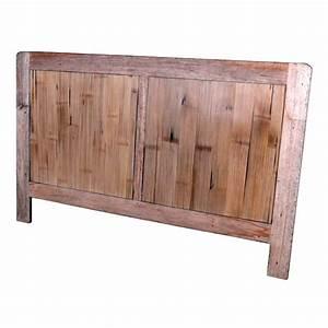 Idées Déco Tête De Lit : t te de lit en bois naturel vieilli meuble d 39 indon sie ~ Zukunftsfamilie.com Idées de Décoration