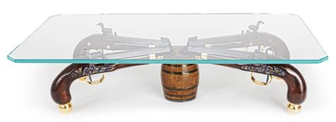 Classy One Of A Kind Gun Coffee Table