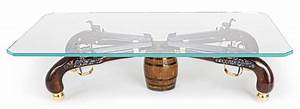 classy one of a kind gun coffee table With one of a kind coffee tables