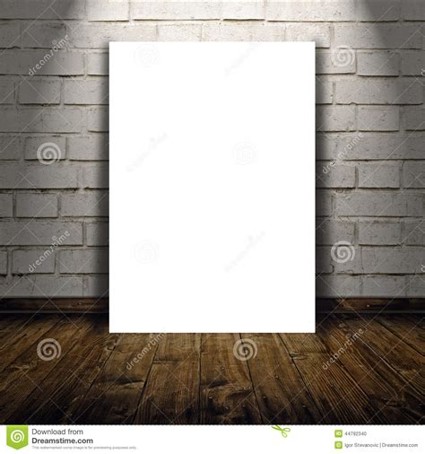 Blank Poster As Copy Space Template For Your Design Stock