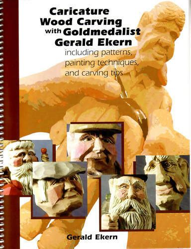 caricature wood carving book patterns tips sale ekern ebay