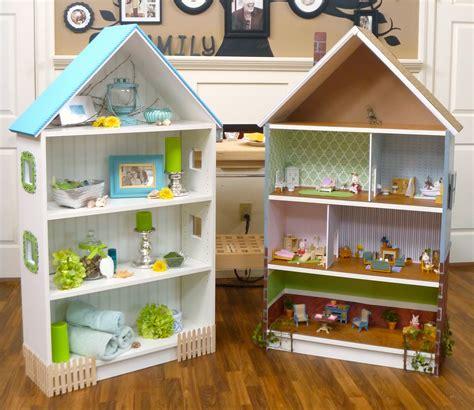 Dollhouse Bookcase Beach Cottage Brick Row House Cute