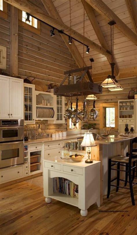 log home kitchens ideas  pinterest log cabin