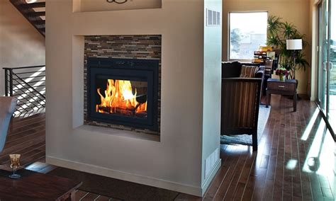 fireplaceinsertcom supreme double sided fireplace