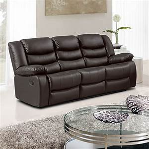 belfast dark brown recliner sofa collection in bonded leather With bonded leather sectional sofa with recliners