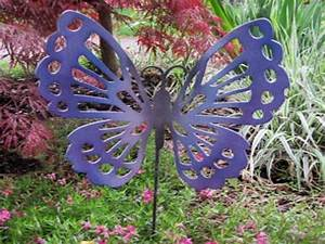 Decorative metal garden stakes butterfly outdoor