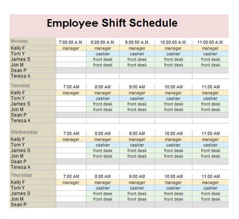 employee shift schedule generator planner template