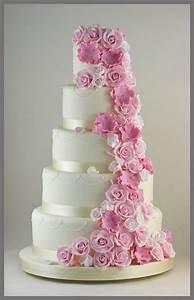 beautiful white and pink wedding cakes | TrendyOutLook.Com