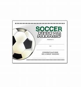 Soccer End Of Season Award Certificate Free Download