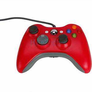 2X Red Wired Gamepad XBOX360 Controller For Microsoft XBOX