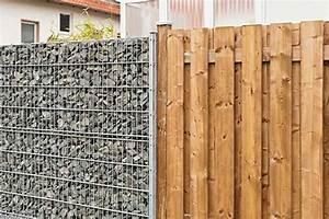 Gabionenzaun Mit Holz : zaun und sichtschutz ~ Lizthompson.info Haus und Dekorationen